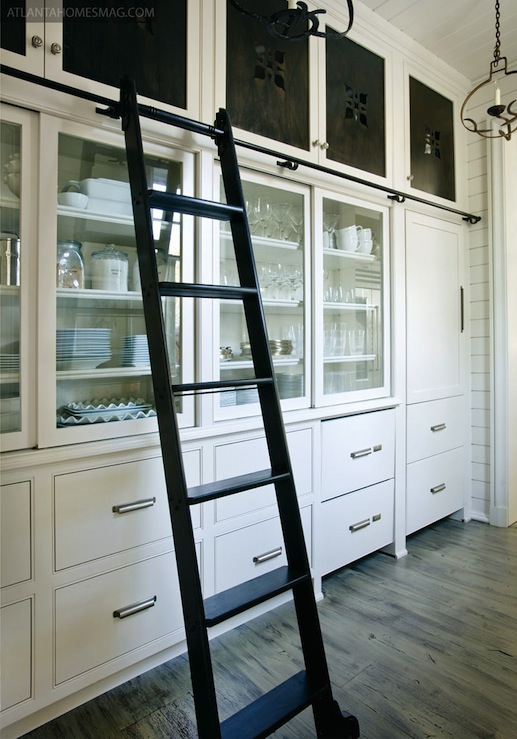 Glass Front Cabinets Country Kitchen Atlanta Homes