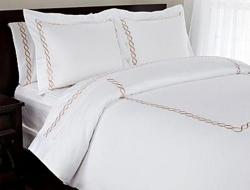 hotel imperial white gold duvet cover set