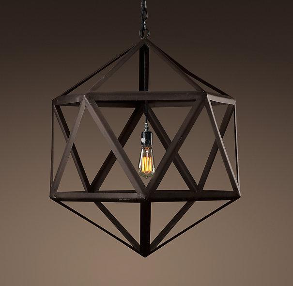 steel polyhedron medium pendant