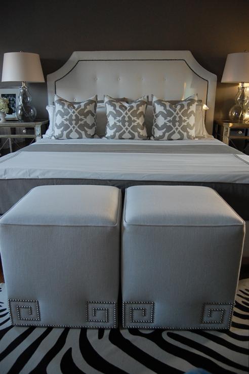 greek key ottoman - contemporary - bedroom - benjamin moore