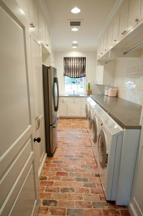 Double Washer And Dryer Transitional Laundry Room Munger Interiors