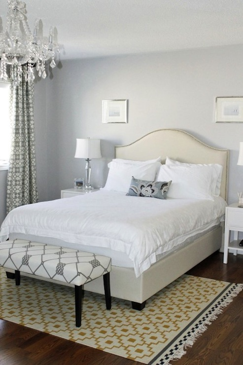 Gray And Yellow Bedroom Contemporary Bedroom ICI Dulux Silver Cloud AM Dolce Vita