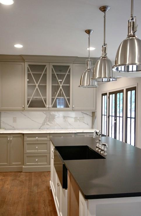 Gray Kitchen Cabinets Transitional Kitchen Benjamin Moore Gettysburg Gray Fitzgerald