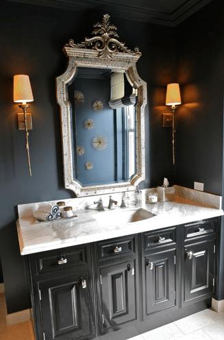 black bathroom - eclectic - bathroom - summer thornton design