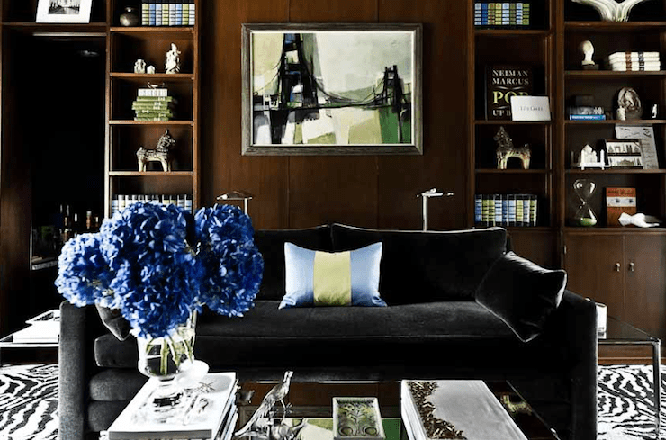 Black Velvet Sofa Transitional Denlibraryoffice