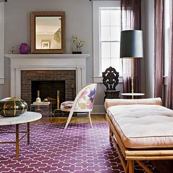 Aubergine Living Room Design Ideas