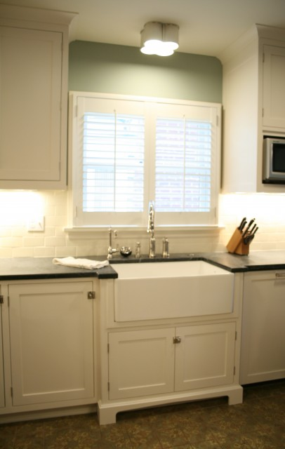 Basil Flushmount Transitional Kitchen Jenny Baines