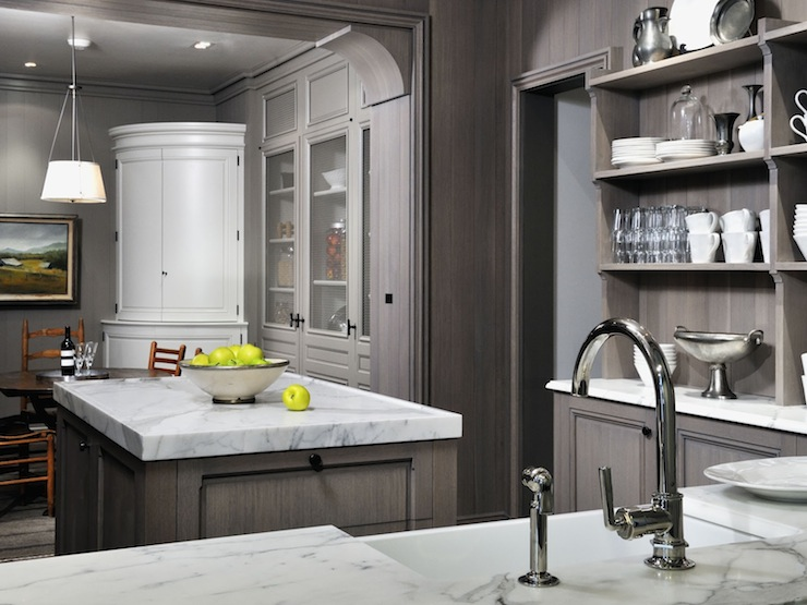 Gray Washed Cabinets Transitional Kitchen Peter