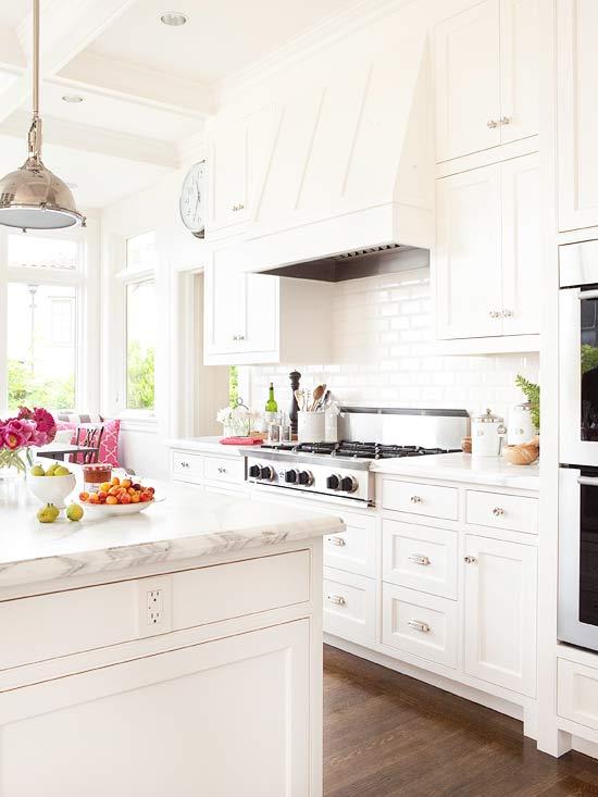 All White Kitchen Transitional Kitchen BHG