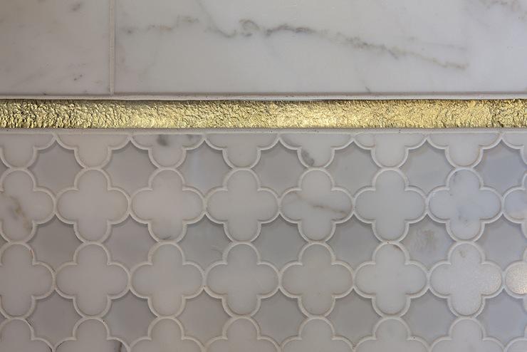 gold quatrefoil tile design ideas