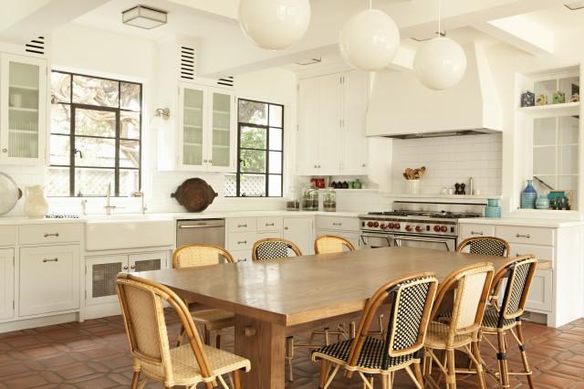 Terracotta KItchen Floor Transitional Kitchen Tim Barber
