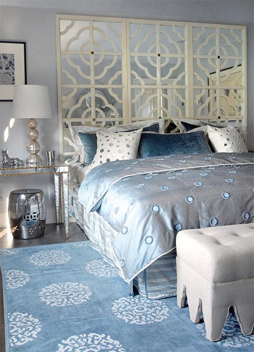 Mirror Nightstand Contemporary Bedroom Mabley Handler