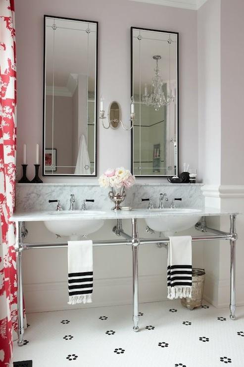 Marble Top Double Washstand Contemporary Bathroom Sarah Richardson Design
