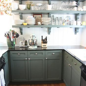 Hunter Green Kitchen Cabinets Design Decor Photos