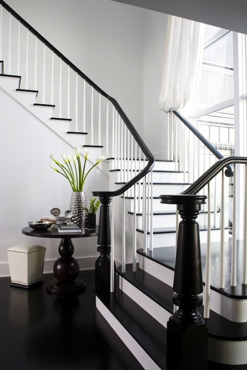 White And Brown Staircase Design Ideas