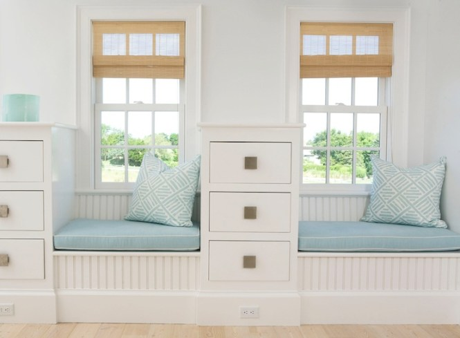 Beadboard Window Seat View Full Size