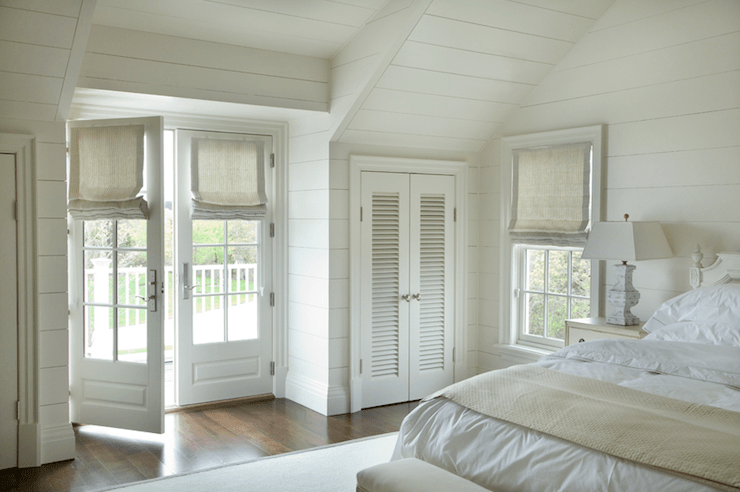 bedroom french doors - cottage - bedroom - barbara waltman design