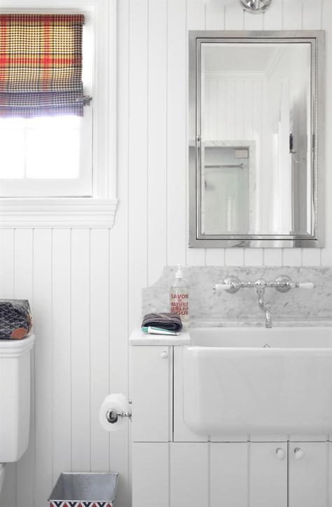 Beadboard Vanity Traditional Bathroom Burnham Design