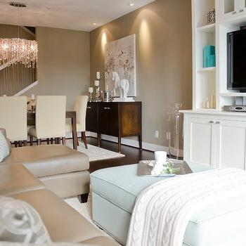 Alyssa Rosenheck Taupe And Blue Cottage Living Room Part 49