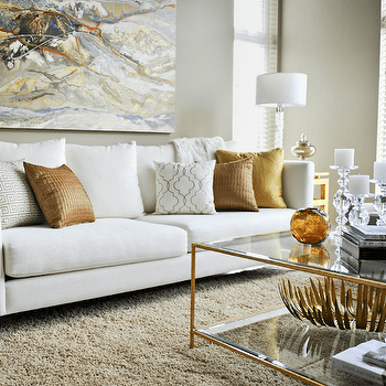 Gold Living Room Photos