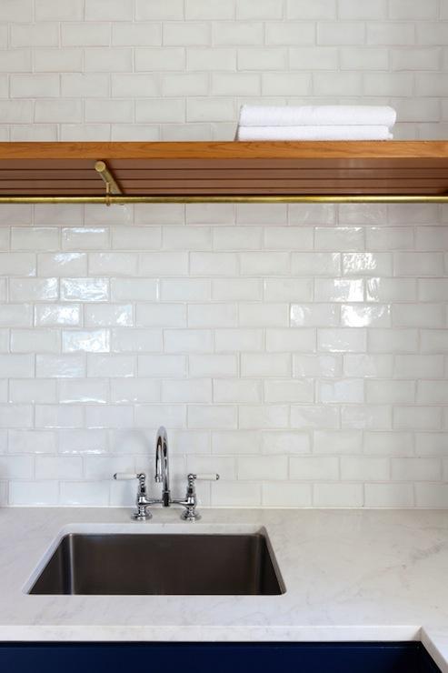 White Glass Tile Backsplash Contemporary Kitchen Arent Pyke