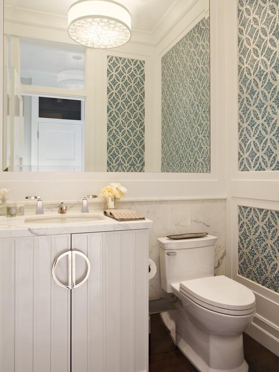 White Lacquer Cabinet Contemporary Bathroom Polsky