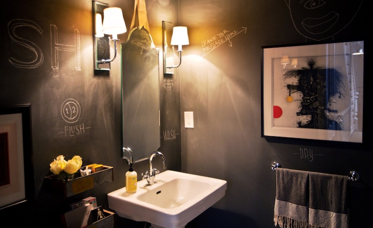 Chalkboard Bathroom Walls Contemporary Bathroom Chango Amp Co