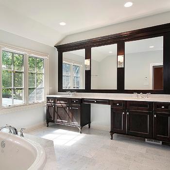 espresso double bathroom vanities