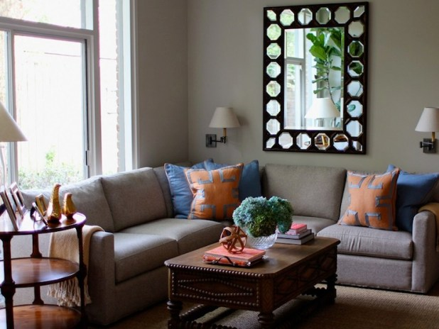orange and blue living room design ideas - Blue And Orange Living Room Design