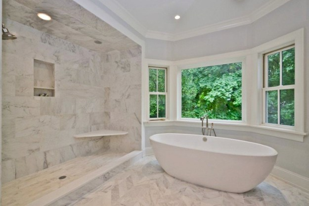 marble master bathroom - contemporary - bathroom - jillian klaff homes