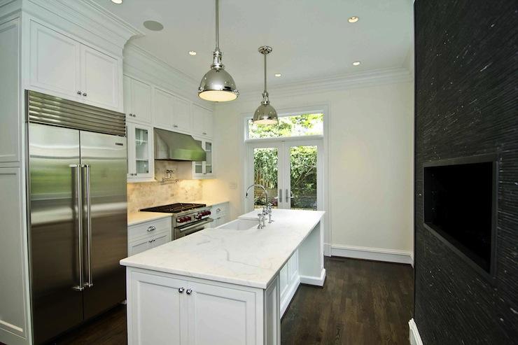 Modern Kitchen Fireplace Modern Kitchen