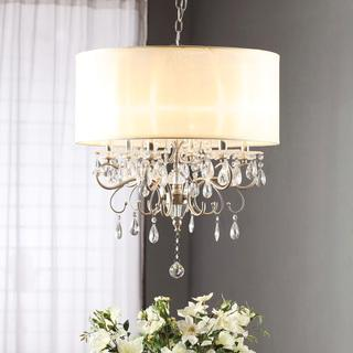 Silver Mist Hanging Crystal Drum Shade Chandelier Link On Pinterest View Full Size