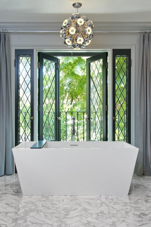 Black French Doors Contemporary Bathroom Jeff Lewis