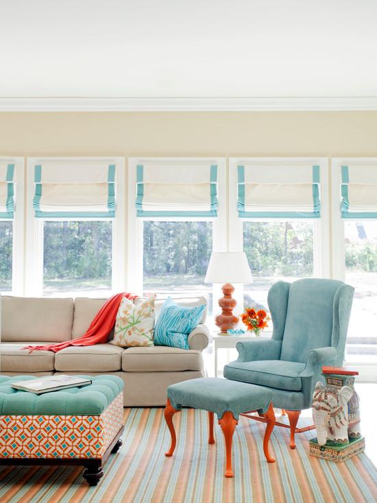 Teal Orange Living Room Home Decorating Interior Design Bath Part 37