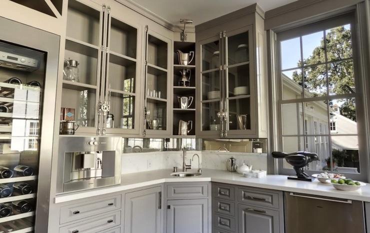 Gray Kitchen Cabinets Transitional Kitchen Benjamin