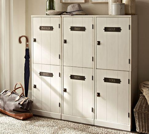Locker Entryway System With Bench Pottery Barn