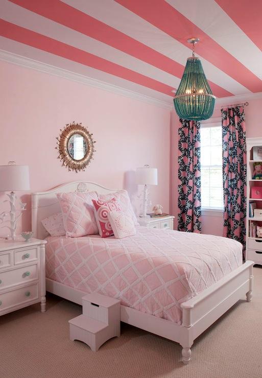 Pink Girls Room Transitional Girls Room Benjamin