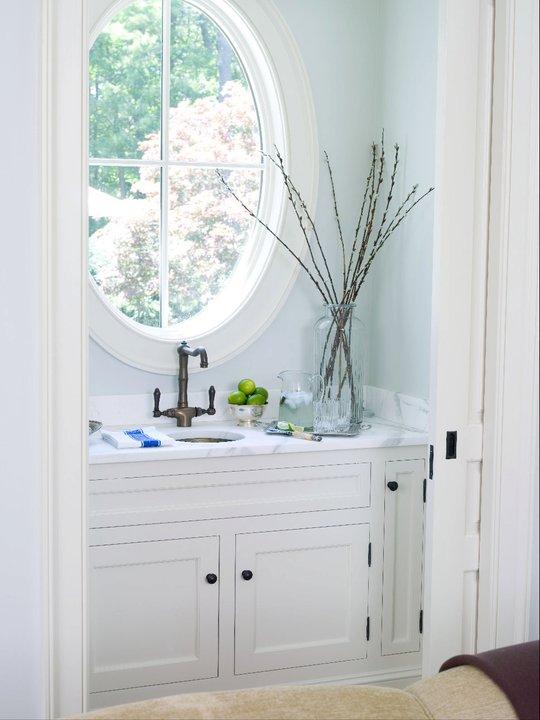Small Powder Room Transitional Living Room Alisberg