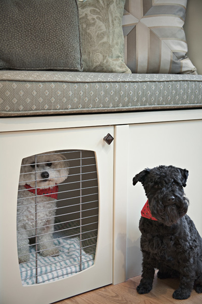 Built In Dog Crate Transitional Living Room Pure By