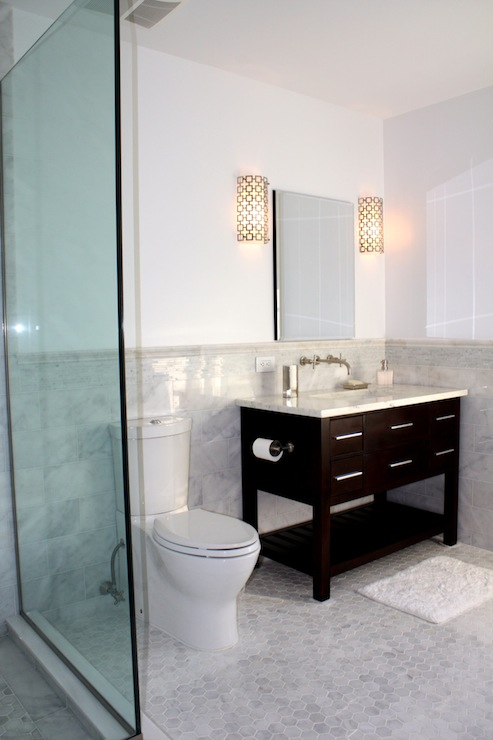 Jonathan Adler Parker Sconce Contemporary Bathroom
