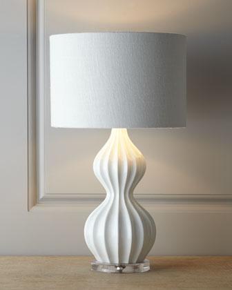 White Peanut Lamp I Horchow