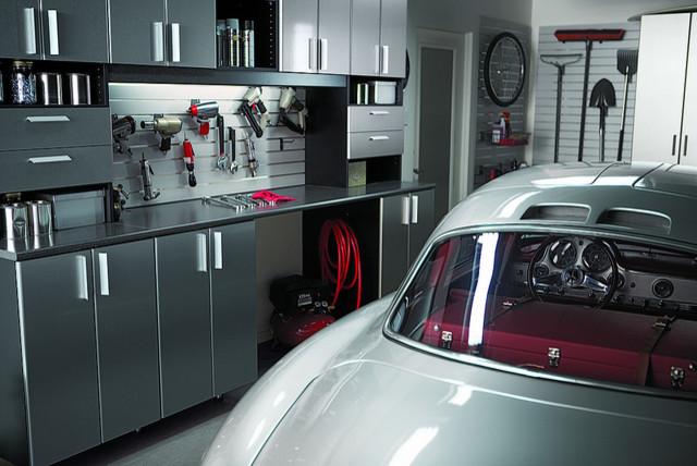 Garage Work Station Contemporary Garage California