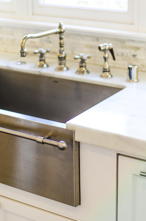 Stainless Steel Apron Sink Traditional Kitchen Evars