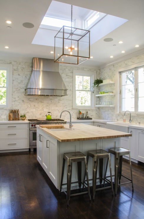Kitchen Skylight Transitional Kitchen Evars And Anderson