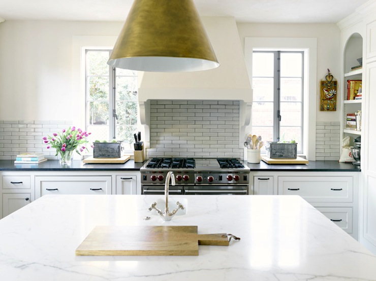 Honed Calcutta Marble Countertop Transitional Kitchen HammerSmith