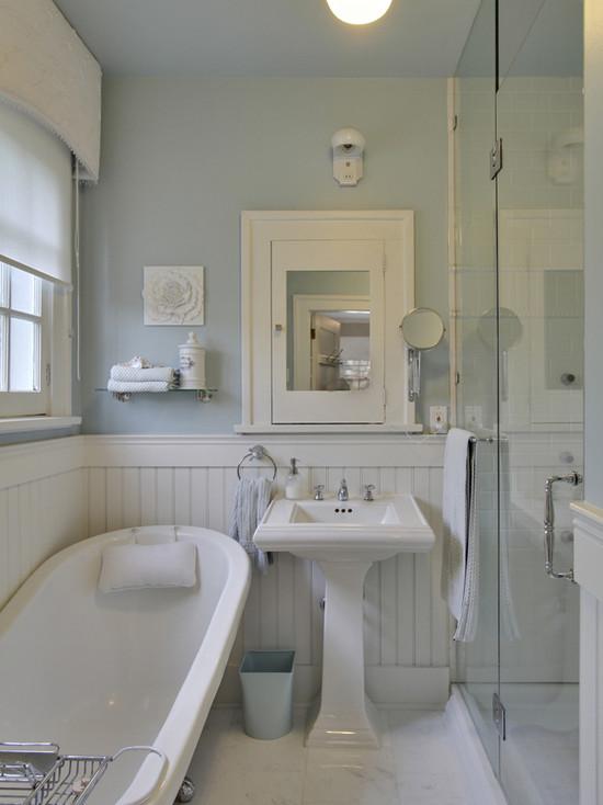 White Beadboard Bathroom Cottage Bathroom Benjamin