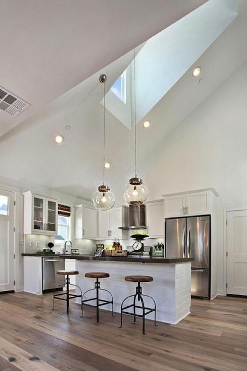 Kitchen Skylight Cottage Kitchen Matt White Custom Homes