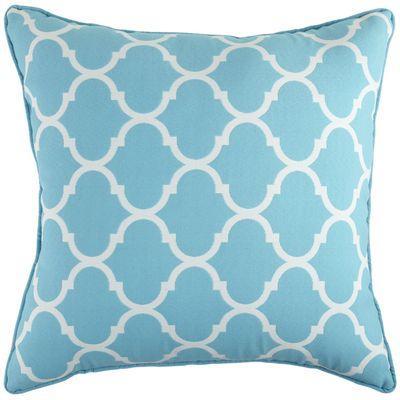 cabana geometric pillow turquoise i