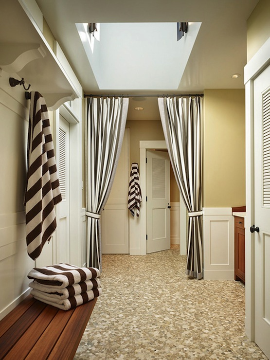 Black And White Striped Drapes Design Ideas