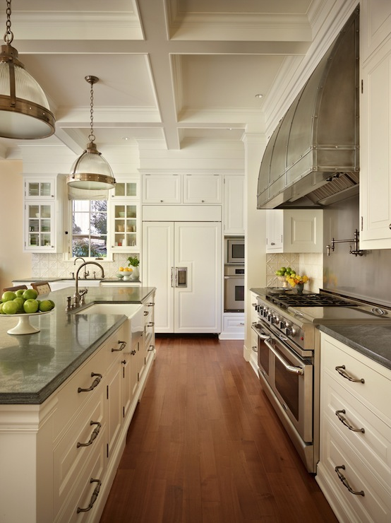 White Cabinets With Gray Countertops Traditional Kitchen Toth Construction